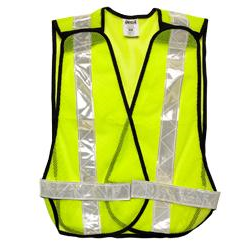 LIME GREEN MESH TEAR AWAY VEST