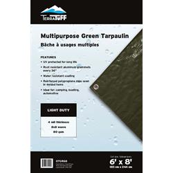 TERRATUFF TARP 6'X8' GREEN