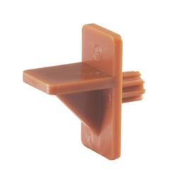 ONWARD PLASTIC SHELF CLIP BROWN 1/4