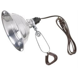 """POWER SOURCE 8 1/2"""" CLAMP LAMP 2M CORD"""